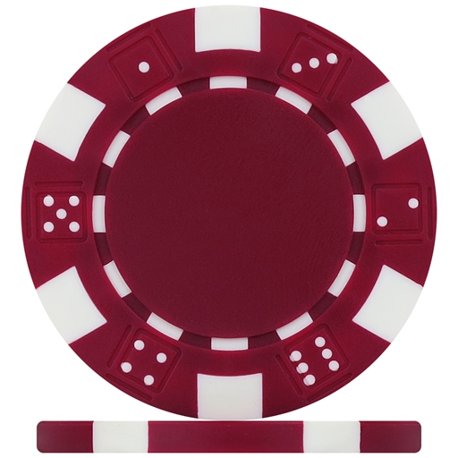 High Quality Burgundy Dice Poker Chips