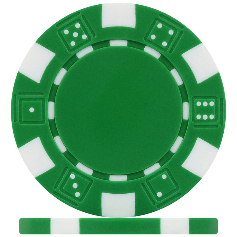 High Quality Green Dice Poker Chips