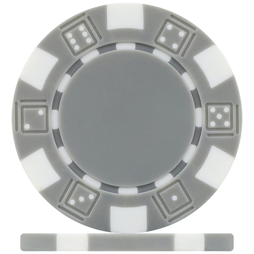 High Quality Grey Dice Poker Chips