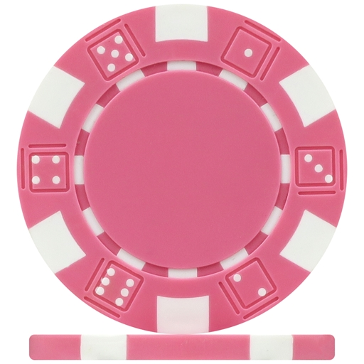 High Quality Pink Dice Poker Chips