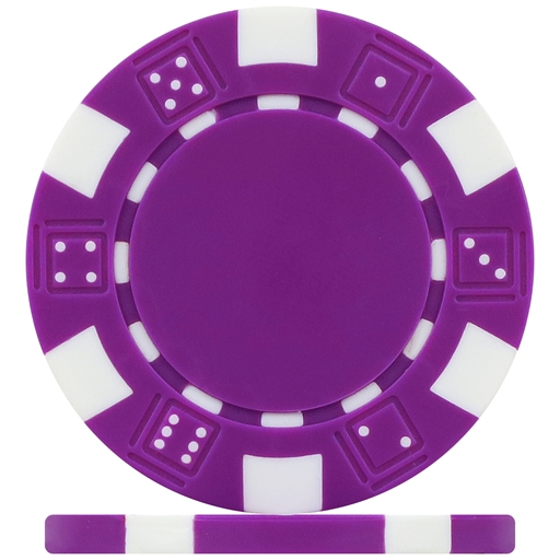 High Quality Purple Dice Poker Chips