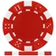 High Quality Red Dice Poker Chips