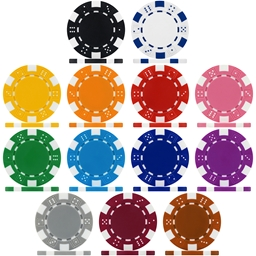 High Quality Dice 12g Poker Chips & Sets