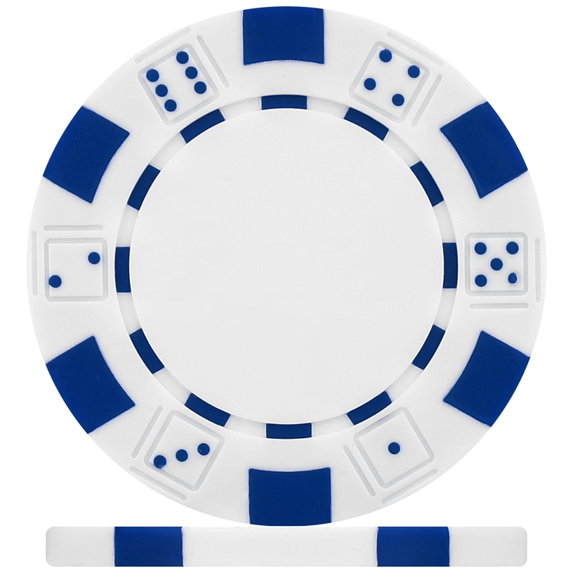 High Quality White Dice Poker Chips