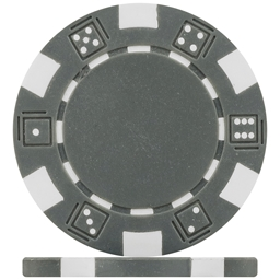 Budget Grey Dice Poker Chips