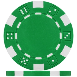 Budget Green Dice Poker Chips