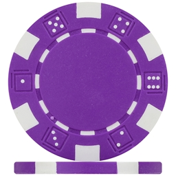 Budget Purple Dice Poker Chips