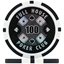 Full House Poker Club Poker Chips - Black 100