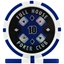 Full House Poker Club Poker Chips - Blue 10