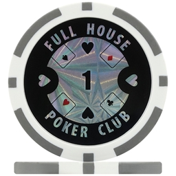Full House Poker Club Poker Chips - Grey 1