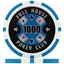 Full House Poker Club Poker Chips - Light Blue 1000