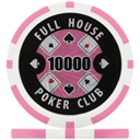 Full House Poker Club Poker Chips - Pink 10000