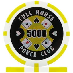 Full House Poker Club Poker Chips - Yellow 5000