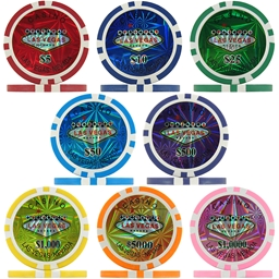 Las Vegas Casino Laser Poker Chips & Sets