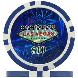 Blue $10 (Roll of 25) - Las Vegas Casino Poker Chips