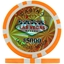 Orange $5000 (Roll of 25) - Las Vegas Casino Poker Chips