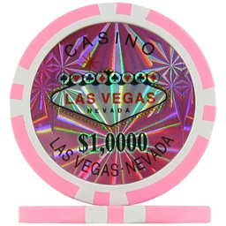 Pink $10000 (Roll of 25) - Las Vegas Casino Poker Chips