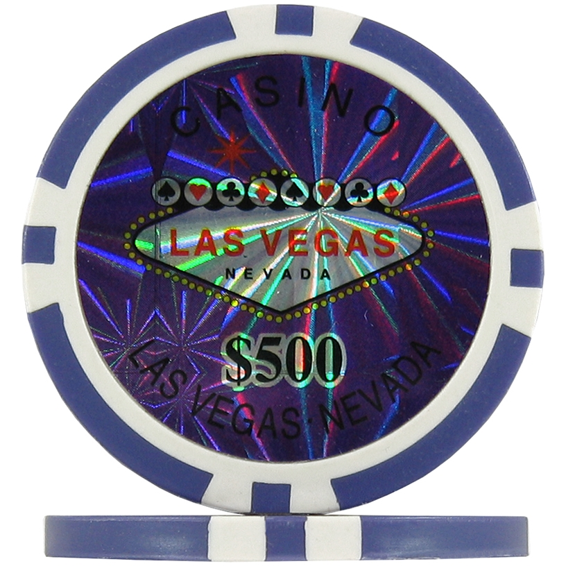 Purple $500 (Roll of 25) - Las Vegas Casino Poker Chips