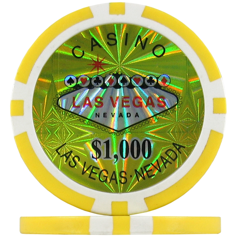 Yellow $1000 (Roll of 25) - Las Vegas Casino Poker Chips