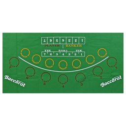 Large Green Felt Baccarat Layout