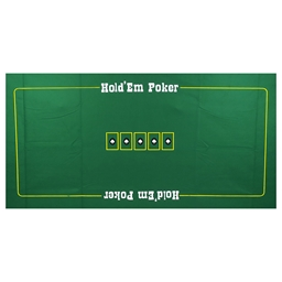 Large Green Felt Texas Holdem Layout