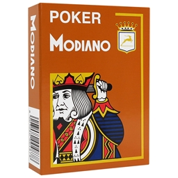 Modiano Brown Poker Plastic Playing Cards
