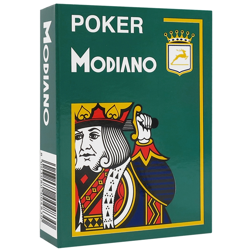 Modiano Dark Green Poker Plastic Playing Cards
