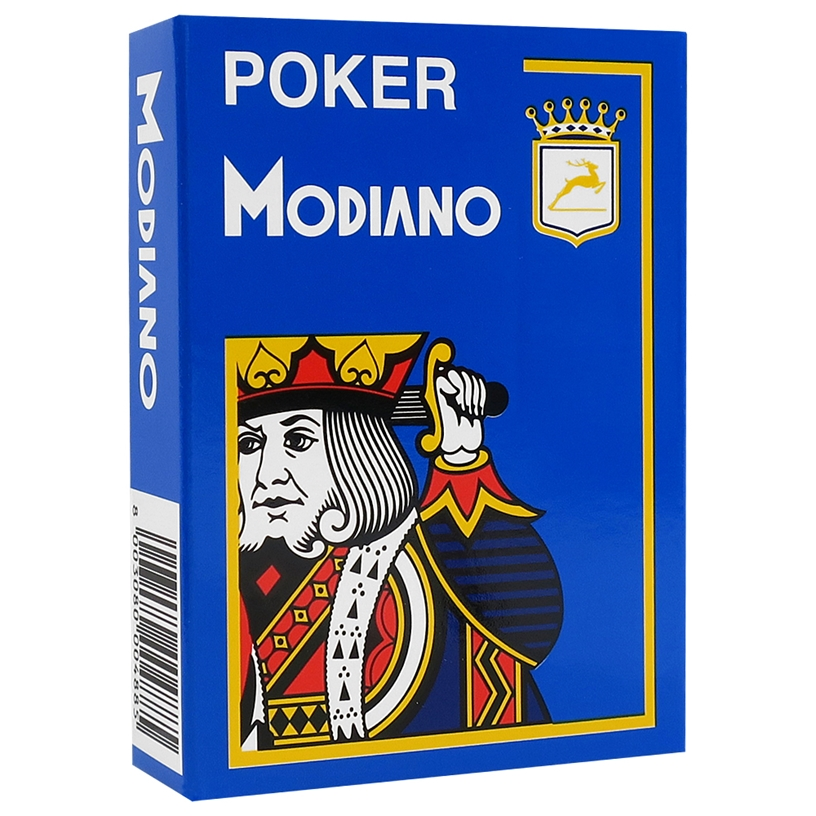 Modiano - Light Blue Poker Plastic Playing Cards