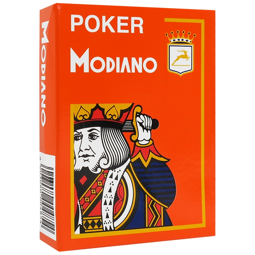 Modiano Orange Poker Plastic Playing Cards