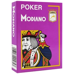Modiano - Purple Poker Plastic Playing Cards
