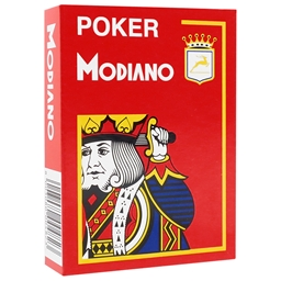 Modiano - Red Poker Plastic Playing Cards