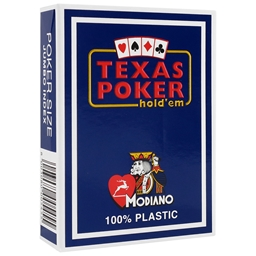Modiano Blue Texas Holdem Poker Plastic Playing Cards