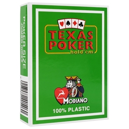 Modiano Green Texas Holdem Poker Plastic Playing Cards