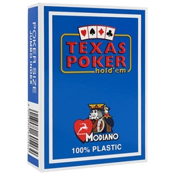 Modiano Light Blue Texas Holdem Poker Plastic Playing Cards