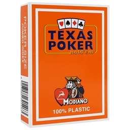 Modiano Orange Texas Holdem Poker Plastic Playing Cards