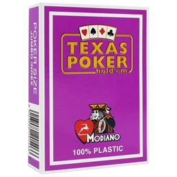 Modiano Purple Texas Holdem Poker Plastic Playing Cards