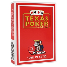 Modiano Red Texas Holdem Poker Plastic Playing Cards
