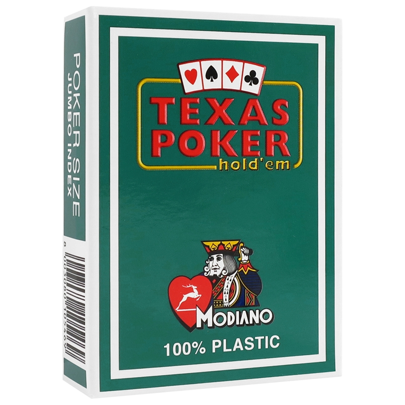 Modiano Dark Green Texas Holdem Poker Plastic Playing Cards
