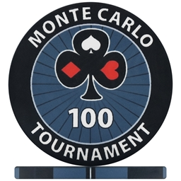 Monte Carlo Tournament Poker Chips - Black 100