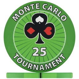 Monte Carlo Tournament Poker Chips - Green 25
