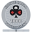 Monte Carlo Tournament Poker Chips - Grey 1000