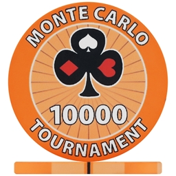 Monte Carlo Tournament Poker Chips - Orange 10000