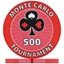Monte Carlo Tournament Poker Chips - Red 500