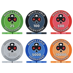 Monte Carlo 10g Ceramic Poker Chips & Sets