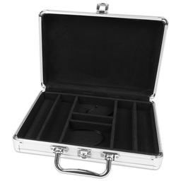 Silver Aluminium 200 Poker Chip Case