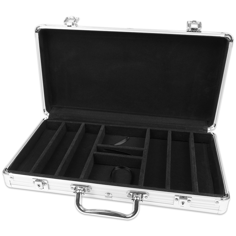 Silver Aluminium 300 Poker Chip Case