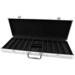 Silver Aluminium 500 Poker Chip Case