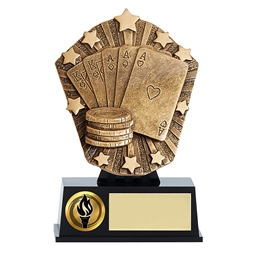 Small Cosmos Full House Poker Trophy
