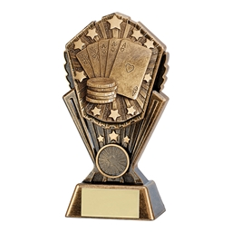Medium Cosmos Full House Poker Trophy