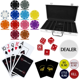 High Quality 300 Piece, 12g Suited Poker Chip Set